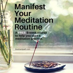 A FREE 6-Week Course to help you start a meditation practice. A new lesson delivered to your inbox each week with inspirational prompts & practical guides to begin your meditation routine.