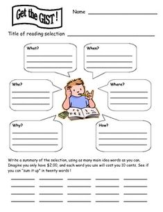 GIST+reading+strategy+template+for+2nd+and+3rd+graders