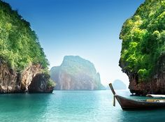 Krabi, Thailand If we ever want to go off the grid, you'll find us in this tropical Thai paradise. We don't need much more in life than these mangrove forests and majestic blue waters framed by limestone cliffs.