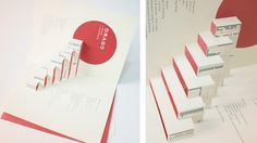 Drago Pop-up brochure designed for Drago - Rome. #brochure #graphic design