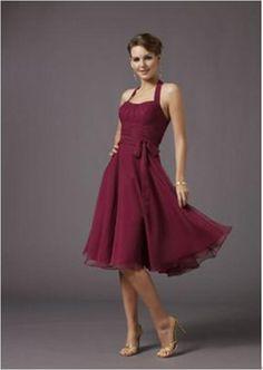 chiffon cocktail length dresses