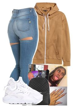 """gonna delete "" by ayoo-tj ❤ liked on Polyvore featuring NIKE"