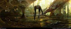 Speed Paint - Weird Forest by Mathias Verhasselt | 2D | CGSociety