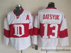 3e1f36484 NHL Detroit Red Wings  13 Pavel Datsyuk White Winter Clssic Patch Jersey  White Reebok