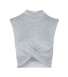 5831c3763fe21 Topshop twist crop top in grey marl.  topsforwomenideas High Neck Shirts