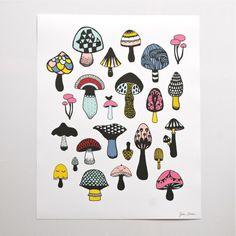 affiche Champignons Hipp - Deco Graphic