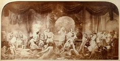 Oscar Gustave Rejlander- The Two Ways of Life a moralistic photo montage of Rejlanders own work, 1857.