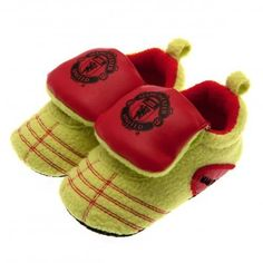 bc23415264c Manchester United Baby Crib Shoes in Neon 0 -3 Months