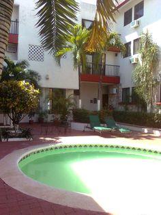cancun, departamento centrico 2 rec 2 baños, alberca 700 000   Olivia Quijano +52 (998)1338223 y Maria Teresa Melo +52 (998) 937 32 39