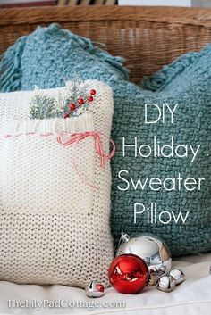Beautiful Holiday Beautiful from an Old Sweater from The Lilypad Cottage