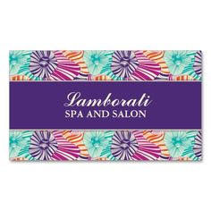 Floral Pattern Elegant Hairdresser Salon Groupon Double-Sided Standard Business Cards (Pack Of 100). Make your own business card with this great design. All you need is to add your info to this template. Click the image to try it out!