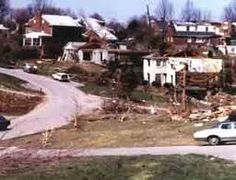 Damage from the 1976 Tornado. Louisville KY