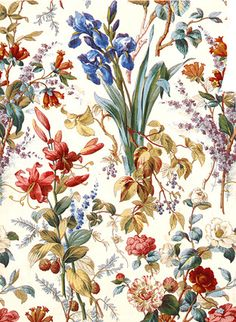 lovely 18th century textile print