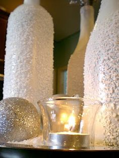 how to - recycle, reuse, upcycle, wine bottles, epson salt - holiday vase for centerpiece