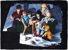 I would love to watch me some Doctor Who with that group! Movie Night by joshuad17.deviantart.com on @deviantART