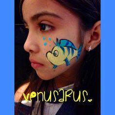 Disney little mermaid flounder Facepaint facepainting