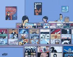 Pete Mckee record comic: vinyl pleasures