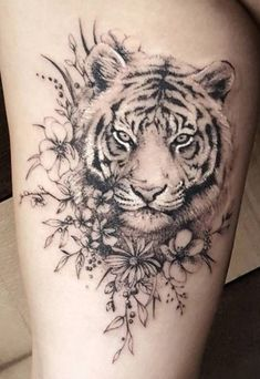 Tiger Roses Tattoo My Style Pinterest Tattoos Rose Tattoos