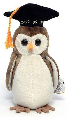 060e31b1eed Wise - Graduation owl - Ty Beanie Babies. (Cute