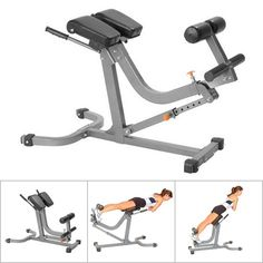 45° Hyperextension Bench u0026 90° Roman Chair all in One - AmStaff TS014 Adjustable  sc 1 st  Pinterest & Costway- Hyper Extension Hyperextension Back Exercise AB Bench Gym ...