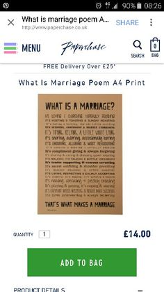 What is a marriage