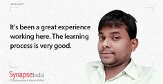 At SynapseIndia, one get the benefit to express their ideas freely. We get to work alongside some of the sharpest minds in industry that will help you learn new technology with ease. Video: vid.me/buEx PPT:http://www.authorstream.com/…/SynapseIndia-2753646-synapse…/