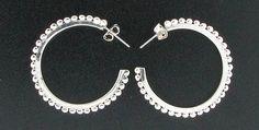 Sterling Silver Mexican Beaded Hoop Earrings #Hoop