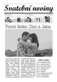 Výsledek obrázku pro svatební noviny