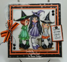 Saturated Canary's Witches Happy Halloween by thehoosierstamper, $10.95