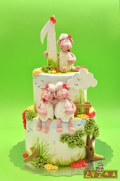 Little sheep birthday cake