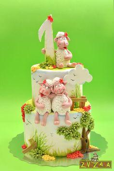 Little sheep birthday cake
