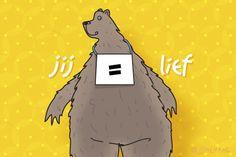 """Gratis e-card: """"Jij is lief"""""""