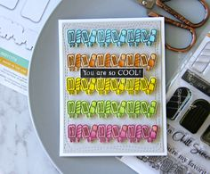 Simon Says Stamp SO COOL Wafer Dies SSSD111716 One Of A Kind Preview Image