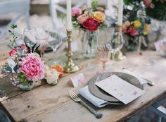 Photography: Greg Finck - gregfinck.com  Read More: http://www.stylemepretty.com/destination-weddings/2014/11/07/provencal-bohemian-garden-wedding-inspiration/