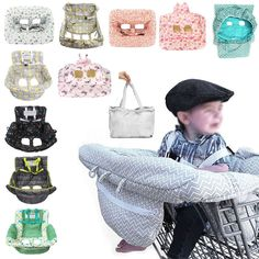 Baby Shopping Trolley Cart Seat Pad Child High Chair Cover Protector Protable ❤  | eBay