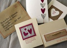 sewing cards and envelopes