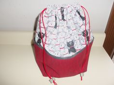 Medium Knitting Project bag Cats by StitchedNaturally on Etsy