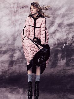 Puff Piece    www. vogue .co.uk     Photography: Craig McDean    Model: Sasha Pivovarova    Styling: Kate Phelan    Hair: Orlando Pitt...