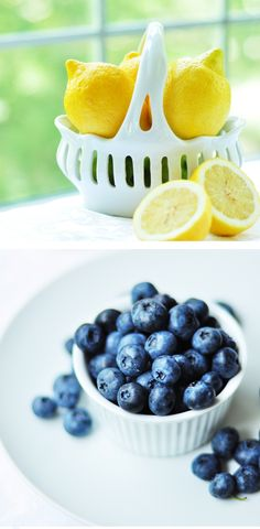 Two favorite colors, blue and yellow. Two favorite fruit, blueberries and lemons. And also raspberries!