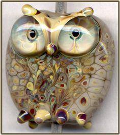Gray Raku Owl XV