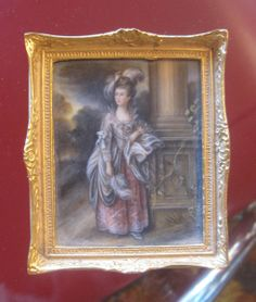 C WHITFORD OIL PAINTING GAINSBOROUGH DOLL HOUSE MINIATURE signed