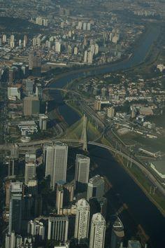 Marginal Pinheiros, Ponte Estaiada - São Paulo - Brasil