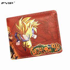 Dragon ball Z DragonBall Z DBZ billfold cosplay Son Goku short Wallet Purse