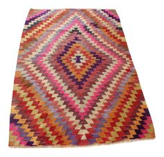 Kilim rug is a traditional turkish flatwoven rug, vintage, most of kilim rugs were hand woven in between 1940-1970th in Turkey, mostly Anatolia region Geometric pattern, design and colors of each kilim rug make it a perfect vintage piece for contemporary homes Each kilim rug has : - a unique pattern - a unique color combination - a unique size - a unique material combination ( wool/wool, wool/cotton, wool/goat wool, wool/camel wool ) - its a unique piece which cannot be re...