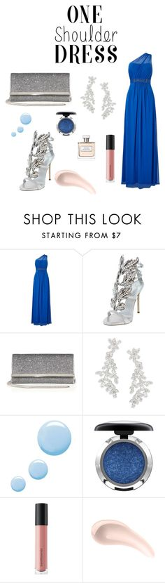 """""""Party Time"""" by soleille28 ❤ liked on Polyvore featuring Adrianna Papell, Giuseppe Zanotti, Jimmy Choo, Kate Spade, Topshop, MAC Cosmetics, Bare Escentuals, Soap & Glory and Ralph Lauren"""