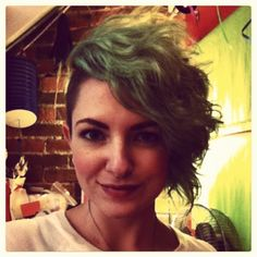 Curly green sidecut.