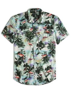 Vintage 80/'s Kalaheo Hawaii Aloha Hawaiian Shirt Large Short Sleeve Button Down Camp Casual Bird of Paradise Cotton Rayon Streetwear Shirt