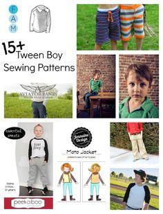 Beatnik Kids 15+ Sewing Patterns For Tween Boys boy sewing pattern review sewing Sewing For Kids  tween sewing patterns tween boy sewing boy sewing patterns boy sewing