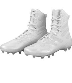 White Football Cleats, Lacrosse, New Shoes, Highlight, Combat Boots, Under Armour, Brand New, Link, Sports