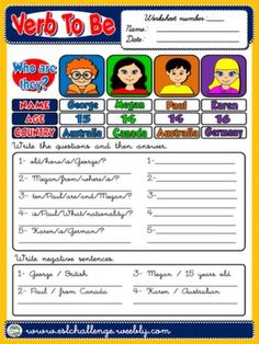 Excel Worksheet Password Excel Lets Talk About Who We Are  Teach English Step By Step  Halloween Worksheets 2nd Grade Pdf with Lines Of Longitude And Latitude Worksheet Pdf Verb To Be  Worksheet   English Classenglish Grammarteaching  Spelling Words Worksheet Excel
